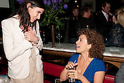 RONNI ANCONA; NADIA SAWALHA, The aftershow party for PYGMALION. National Gallery Gallery CafŽ, London.  May 25, 2011,<br /> <br /> <br /> <br />  , -DO NOT ARCHIVE  Copyright Photograph by Dafydd Jones. 248 Clapham Rd. London SW9 0PZ. Tel 0207 820 0771. www.dafjones.com.<br /> RONNI ANCONA; NADIA SAWALHA, The aftershow party for PYGMALION. National Gallery Gallery Café, London.  May 25, 2011,<br /> <br /> <br /> <br />  , -DO NOT ARCHIVE  Copyright Photograph by Dafydd Jones. 248 Clapham Rd. London SW9 0PZ. Tel 0207 820 0771. www.dafjones.com.