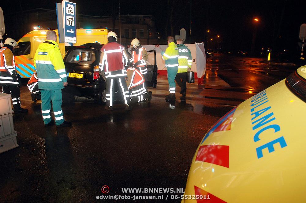 NLD/Rotterdam/20051221 - Ongeval beknelling Nieuw Bussummer - Crailoseweg Huizen