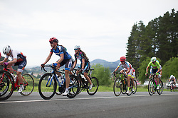 Anna Badegruber (AUT) of Team WNT climbs in the fourth lap of the Durango-Durango Emakumeen Saria - a 113 km road race, starting and finishing in Durango on May 16, 2017, in the Basque Country, Spain.