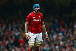 Justin Tipuric of Wales<br /> <br /> Photographer Simon King/Replay Images<br /> <br /> Six Nations Round 5 - Wales v Ireland - Saturday 16th March 2019 - Principality Stadium - Cardiff<br /> <br /> World Copyright © Replay Images . All rights reserved. info@replayimages.co.uk - http://replayimages.co.uk