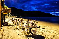 Restaurante Tatuíra Petisqueira na Praia do Canto Grande (Mar de Dentro). Bombinhas, Santa Catarina, Brasil. / <br /> Tatuira Petisqueira Restaurant at Canto Grande Beach. Bombinhas, Santa Catarina, Brazil.