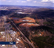 Liberty Mountain and Wards Road as seen from a helicopter in December 1977.