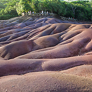 Seven colored earths in the Chamaral area in the Southwest. These colorful mounds were formed by basalt that has broken down. This is a top tourist destination in the area.