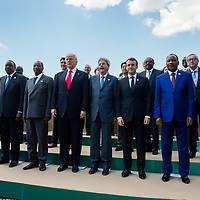 Taormina 27-05-2017 G7, Final Photofamily of the Leaders; Jean Claude Juncker, Donald Tusk, Shinzo Abe, Angela Merkel, Paolo Gentiloni, Emmanuel Macron, Donald Trump, Justin Trudeau, Christine Lagarde with the delegation of African Nations