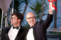 Juanjo Gimenez and João Paulo Miranda Maria with the Short Films awards at the Palm D'Or Winners photocall at the 69th Cannes Film Festival Sunday 22nd May 2016, Cannes, France. Photography: Doreen Kennedy