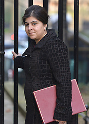 """© under license to London News Pictures. 5th August 2014 Foreign Office minister Baroness Warsi has resigned from the government, saying she can """"no longer support"""" its policy on Gaza. FILE PICTURE DATED  05/02/2013. Westminster, UK Baroness Warsi Cabinet Ministers arrive for the weekly Cabinet meeting on 5th February 2013. Photo credit : Stephen Simpson/LNP"""