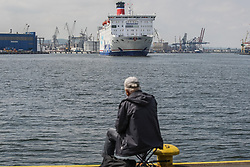 June 23, 2017 - Gdynia, Poland - Stena Spirit ferry is seen in Gdynia, Poland on 23 June 2017 Due to the growing demand for freight transport Stena Line introduces the fourth ferry to the service on the Gdynia (Poland) - Karlskrona (Sweden) route. (Credit Image: © Michal Fludra/NurPhoto via ZUMA Press)