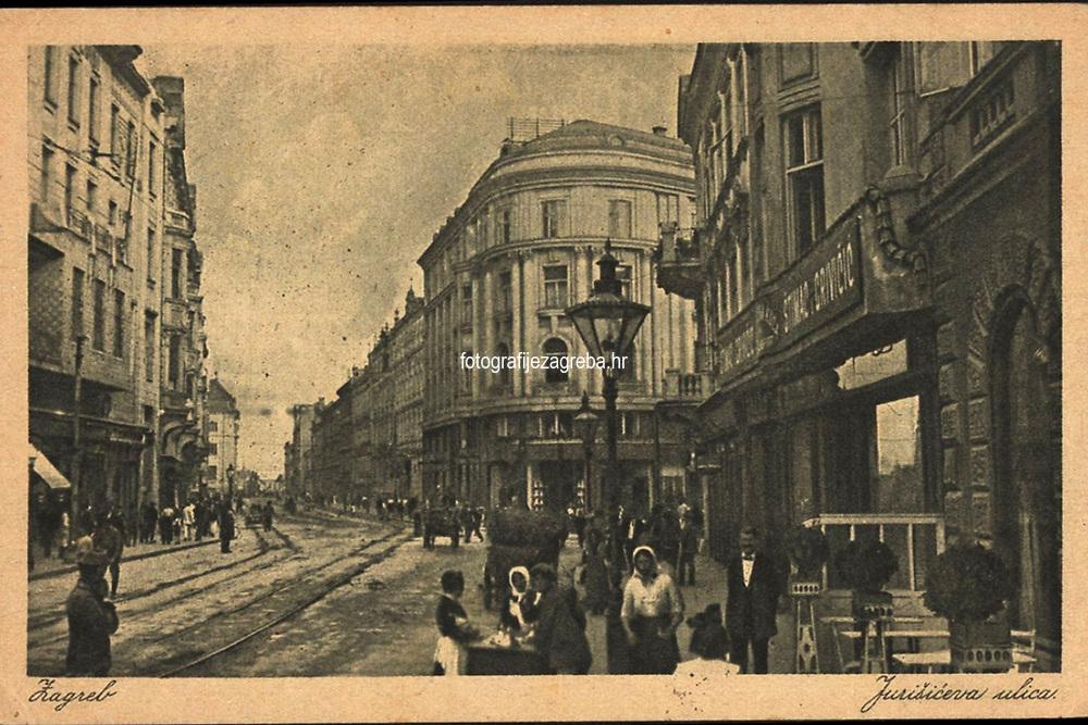 Zagreb : Jurišićeva ulica. <br /> <br /> ImpresumZagreb : Edition Čaklović, [1922].<br /> Materijalni opis1 razglednica : tisak ; 9 x 14 cm.<br /> NakladnikJos. Čaklović<br /> Mjesto izdavanjaZagreb<br /> Vrstavizualna građa • razglednice<br /> ZbirkaZbirka razglednica • Grafička zbirka NSK<br /> Formatimage/jpeg<br /> PredmetZagreb –– Jurišićeva ulica<br /> SignaturaRZG-JURIS-7<br /> Obuhvat(vremenski)20. stoljeće<br /> NapomenaRazglednica je putovala 1922. godine.<br /> PravaJavno dobro<br /> Identifikatori000954851<br /> NBN.HRNBN: urn:nbn:hr:238:238028 <br /> <br /> Izvor: Digitalne zbirke Nacionalne i sveučilišne knjižnice u Zagrebu