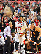 LUBBOCK, TX - MARCH 1: Aaron Ross #15 of the Texas Tech Red Raiders runs the court during the game against the Texas Longhorns on March 1, 2017 at United Supermarkets Arena in Lubbock, Texas. Texas Tech defeated Texas 67-57. (Photo by John Weast/Getty Images) *** Local Caption *** Aaron Ross