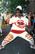 Large Ragga woman, dancing. Notting Hill Carnival, London, UK 1996