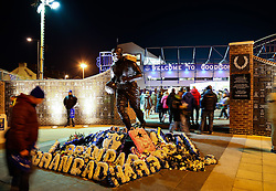 A general view of the memorial statue outside Goodison Park ahead of the UEFA Europa League tie between Everton and Young Boys - Photo mandatory by-line: Matt McNulty/JMP - Mobile: 07966 386802 - 26/02/2015 - SPORT - Football - Liverpool - Goodison Park - Everton v Young Boys - UEFA EUROPA LEAGUE ROUND OF 32 SECOND LEG
