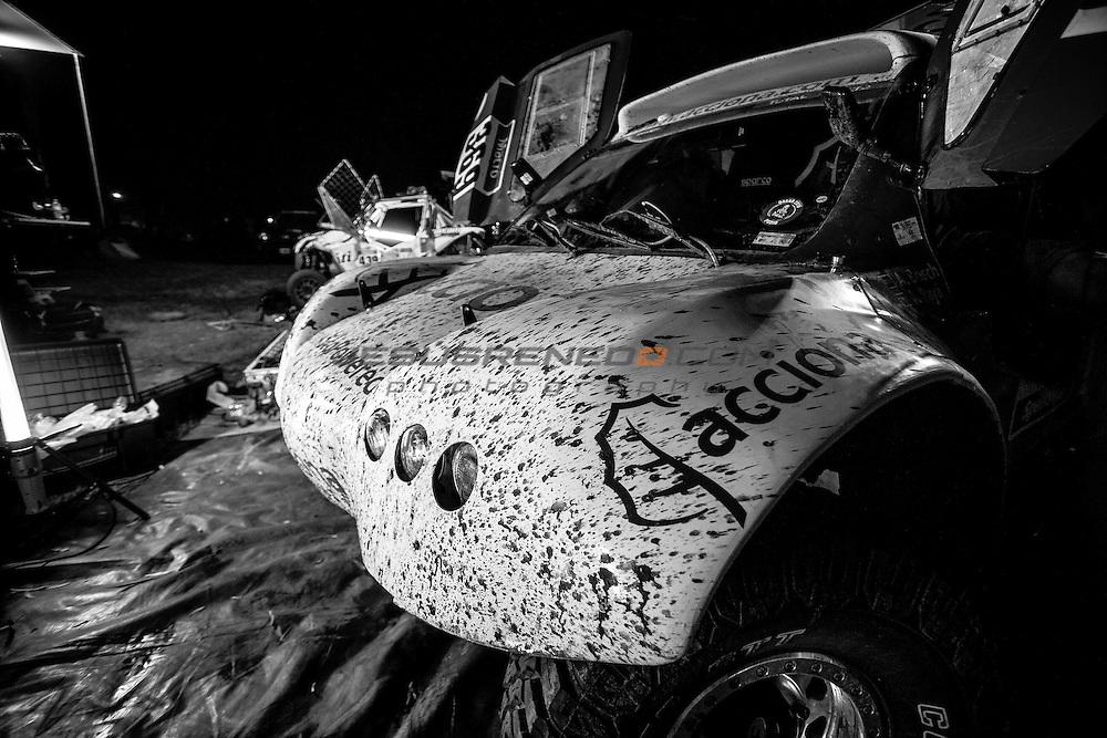 Acciona 100x100 ecopowered,electric car, Dakar 2015, First Bivouac, Villa Carlos de San Juan.