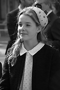 Lady Margarita Armstrong-Jones, , Service of thanksgiving for  Lord Snowdon, St. Margaret's Westminster. London. 7 April 2017