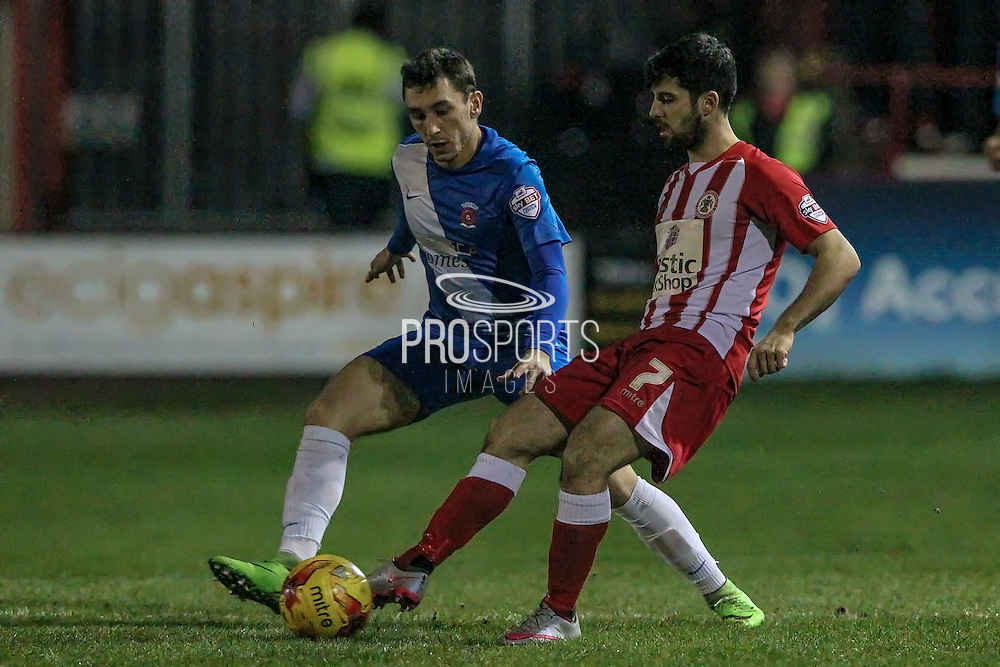 Piero Mingoia (Accrington Stanley) during the Sky Bet League 2 match between Accrington Stanley and Hartlepool United at the Fraser Eagle Stadium, Accrington, England on 19 January 2016. Photo by Mark P Doherty.