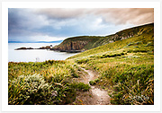 View from path at Cape Bruny, overlooking Quiet Bay [Bruny Island, Tasmania]<br /> <br /> Image ID: 207211. Order by email to orders@girtbyseaphotography.com quoting the image ID, preferred print size &amp; media. Current standard size prices are published on the Pricing page. Custom sizes also available.