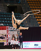 Lara Elisa Paolini from Udinese team during the Italian Rhythmic Gymnastics Championship in Bologna, 9 February 2019.