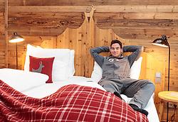 17.01.2018, Hotel Kitzhof, Kitzbühel, AUT, FIS Weltcup Ski Alpin, Kitzbuehel, ÖSV Pressetermin, im Bild Vincent Kriechmayr (AUT) // Vincent Kriechmayr of Austria during a press conference of Austrian men's Skiteam prior to the FIS Ski Alpine World Cup at the Hotel Kitzhof in Kitzbühel, Austria on 2018/01/17. EXPA Pictures © 2018, PhotoCredit: EXPA/ Johann Groder