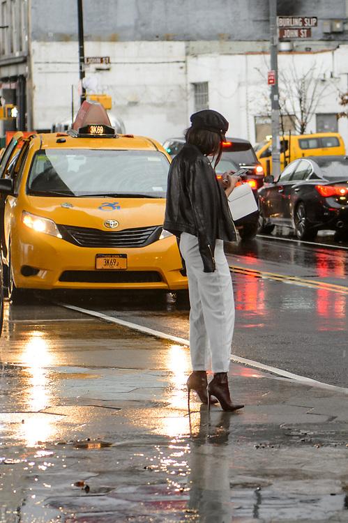 Stilettos in the Rain, Outside Tibi FW2018