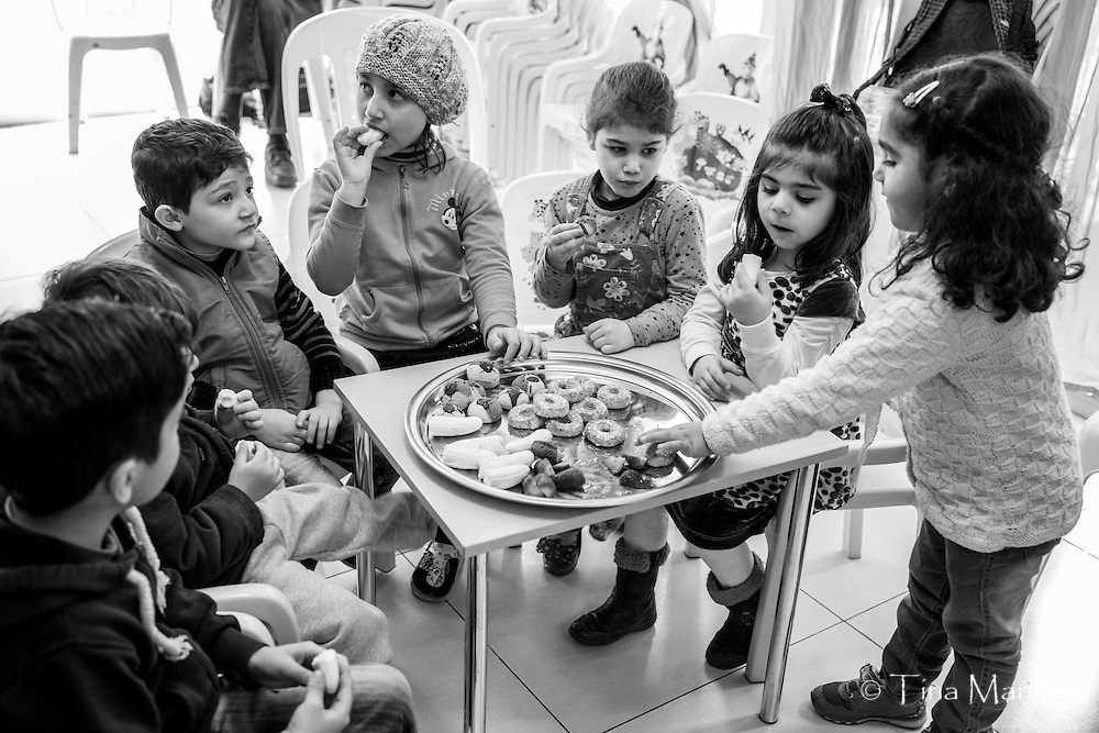 The Olive Tree School teaches Turkish to Syrian refugee children in Istanbul, Turkey.
