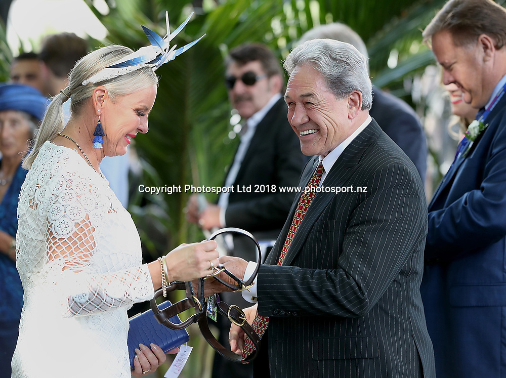 Deputy Prime Minister and racing minister Winston Peters  at Auckland Cup Day, Ellerslie Racecourse, Auckland, New Zealand, Saturday, March 10, 2018. Copyright photo: David Rowland / www.photosport.nz