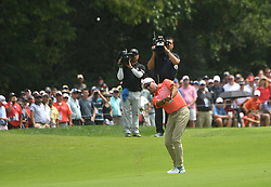 August 12, 2018 - St. Louis, Missouri, U.S. - ST. LOUIS, MO - AUGUST 12: Stewart Cinc hits his second shot on the fairway of the #1 hole during the final round of the PGA Championship on August 12, 2018, at Bellerive Country Club, St. Louis, MO.  (Photo by Keith Gillett/Icon Sportswire) (Credit Image: © Keith Gillett/Icon SMI via ZUMA Press)