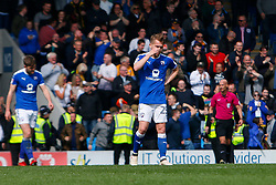Louis Reed of Chesterfield cuts a dejected look after conceding - Mandatory by-line: Ryan Crockett/JMP - 14/04/2018 - FOOTBALL - Proact Stadium - Chesterfield, England - Chesterfield v Mansfield Town - Sky Bet League Two