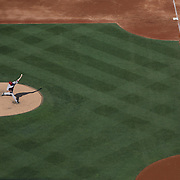 Patrick Corbin,  Arizona Diamondbacks, pitching during the New York Mets Vs Arizona Diamondbacks MLB regular season baseball game at Citi Field, Queens, New York. USA. 11th July 2015. Photo Tim Clayton