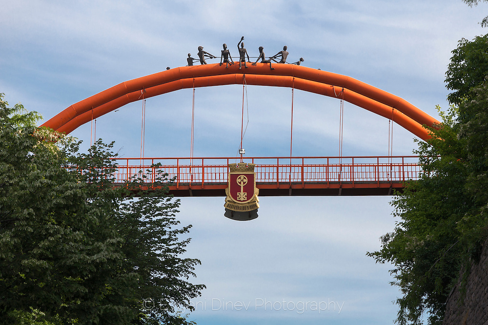 Orange bridge in Haskovo