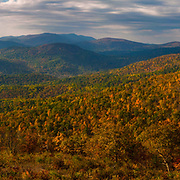 Autumn in Shenandoah National Park, as seen from Skyline Drive.