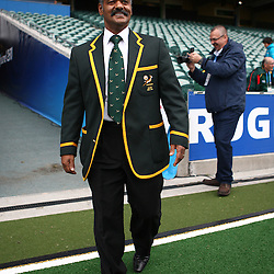 AUCKLAND, NEW ZEALAND - SEPTEMBER 21, Peter de Villiers Springbok Head Coach  during the Springboks team photo session and captain's run at North Harbour Stadium on September 21, 2011 in Auckland, New Zealand<br /> Photo by Steve Haag / Gallo Images
