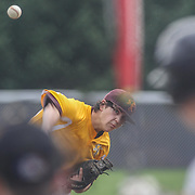 St. Elizabeth Pitcher Hayden Trimarco (7) throws a strike in the third inning in the mist of the second round of the DIAA baseball state tournament between #4 Caravel Academy and #15 St. Elizabeth Saturday May 27, 2017, at Caravel Academy in Bear Delaware.