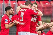 ALKMAAR - 06-11-2016, AZ - Ajax, AFAS Stadion, 2-2, AZ speler Wout Weghorst (l) heeft de 1-0 gescoord, AZ speler Robert Muhren.