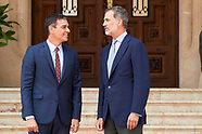 080719 King Felipe VI of Spain attends a meeting with Pedro Sanchez
