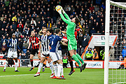 Ben Foster (1) of West Bromwich Albion claims the ball during the Premier League match between Bournemouth and West Bromwich Albion at the Vitality Stadium, Bournemouth, England on 17 March 2018. Picture by Graham Hunt.