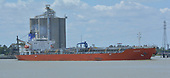 """Images of Stainless Steel Tanker MT 'Elenore"""" Sailing Downstream in the Houston Ship Channel"""