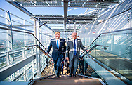 RIJSWIJK - King Willem-Alexander during the opening of the new European Patent Office Rijswijk building. The new sustainable building was designed by the architects Jean Nouvel and Diederik Dam and is 107 meters high and 156 meters long.  ROBIN UTRECHT