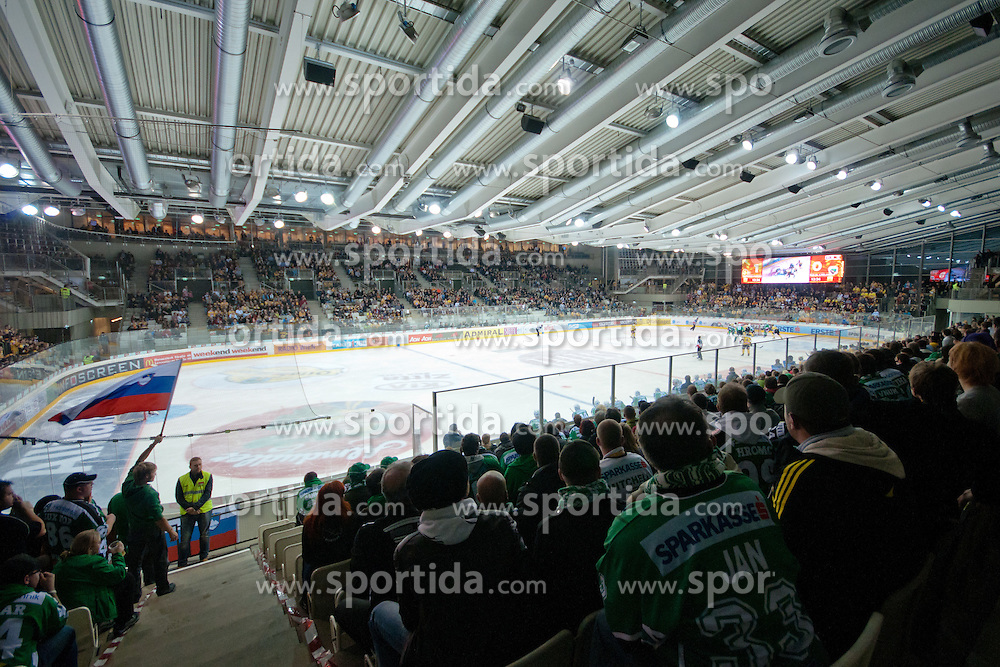 View on the ice rink during ice-hockey match between UPC Vienna Capitals and HDD Tilia Olimpija in 17th Round of EBEL league, on October 30, 2011 at Albert Schultz Eishalle, Wien, Austria. (Photo By Matic Klansek Velej / Sportida)