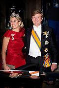 Galadiner voor het Corps Diplomatique in het Koninklijk Paleis in Amsterdam // Gala dinner for the Corps Diplomatique at the Royal Palace in Amsterdam<br /> <br /> Op de foto:  Koning Willem Alexander en Koningin Maxima / King Willem Alexander and Queen Maxima