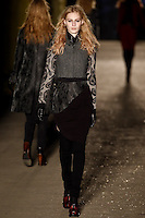 Julia Nobis walks down runway for F2012 Rag & Bone collection in Mercedes Benz fashion week in New York on Feb 10, 2012 NYC