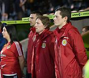 \Scott Gemmill during national anthem - Scotland under 21s v Estonia international challenge match at St Mirren Park, St Mirren. Pic David Young<br />  <br /> - © David Young - www.davidyoungphoto.co.uk - email: davidyoungphoto@gmail.com
