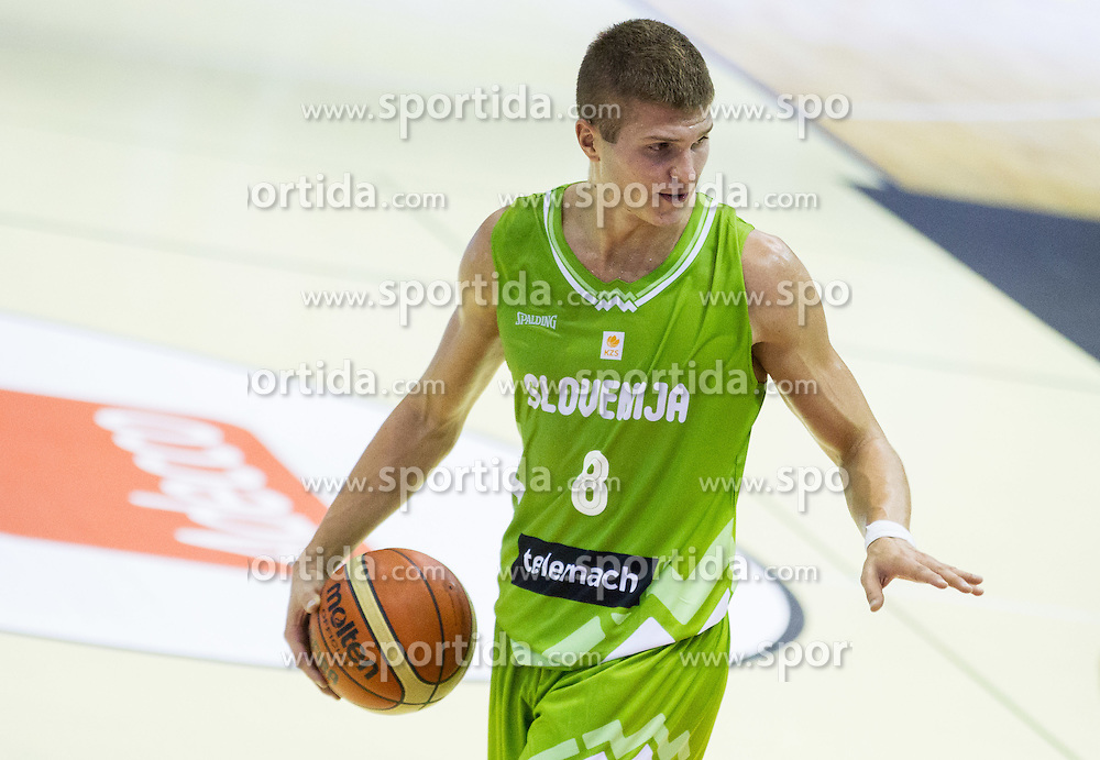 Edo Muric of Slovenia during friendly basketball match between National teams of Slovenia and Georgia in day 2 of Adecco Cup 2014, on July 25, 2014 in Dvorana OS 1, Murska Sobota, Slovenia. Photo by Vid Ponikvar / Sportida.com