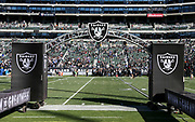 Dec 3, 2017; Oakland, CA, USA; General view of the Oakland Coliseum prior an NFL game between the New York Giants and the Oakland Raiders at Oakland-Alameda County Coliseum.