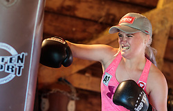 19.06.2017, Powerhof, Adnet, AUT, OeSV, Boxtraining Damen Slalom Team, im Bild Katharina Truppe (AUT) // during a Boxing Training Camp of the Austrian Ladies Slalom Team at the Powerhof in Adnet, Austria on 2017/06/19. EXPA Pictures © 2017, PhotoCredit: EXPA/ JFK