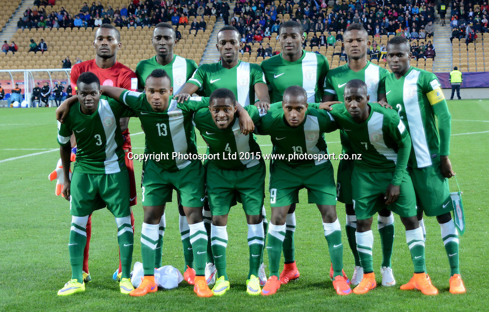 Team Nigeria FIFA U-20 World Cup New Zealand. Hungary vs Nigeria, played at Stadium Taranaki, New Plymouth NZ, Sunday 7th June 2015.  <br />  Photo John Velvin / ESPNZ