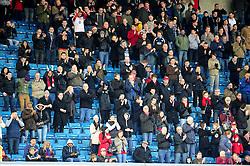 Bristol City fans at The Den, Millwall - Photo mandatory by-line: Dougie Allward/JMP - Tel: Mobile: 07966 386802 01/01/2013 - SPORT - FOOTBALL - The Den - London -  Millwall v Bristol City - Championship.
