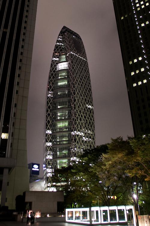 Tokyo Mode Gakuen Coccoon Tower  203.7 meteres.??????????????.1-7-2 Nishi-Shinjuku, Shinjuku-ku.Tokyo   Japan..Tange Associates