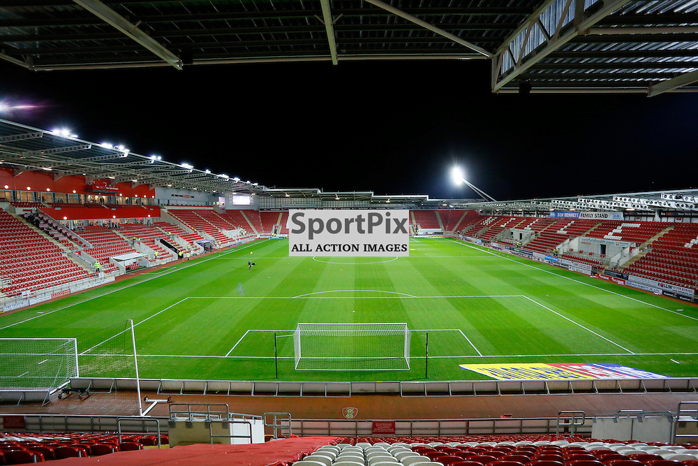 New York Stadium ahead of Rotherham United v Brighton, SkyBet Championship, Tuesday 12th January 2016, AESSEAL New York Stadium, Rotherham