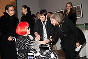 YAHOI KUSAMA; FRANCES MORRIS,  SUSAN SAYIN, Yayoi Kusama opening. Tate Modern. London. 7 February 2012