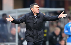 Dundee manager Jim McIntyre during the Scottish Premiership match at Dens Park, Dundee.