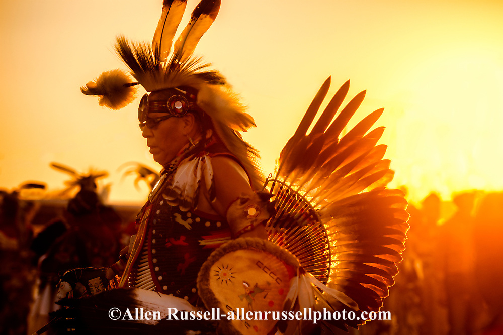 Crow Fair Powwow, Traditional Dancers, Grand Entry, Crow Indian Reservation, Montana